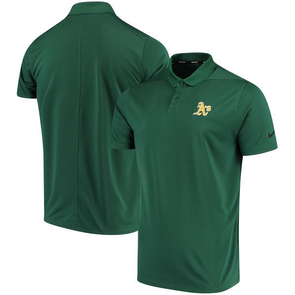 お取り寄せ MLB アスレチックス ソリッド ヴィクトリー パフォーマンス ポロシャツ ナイキ/Nike グリーン