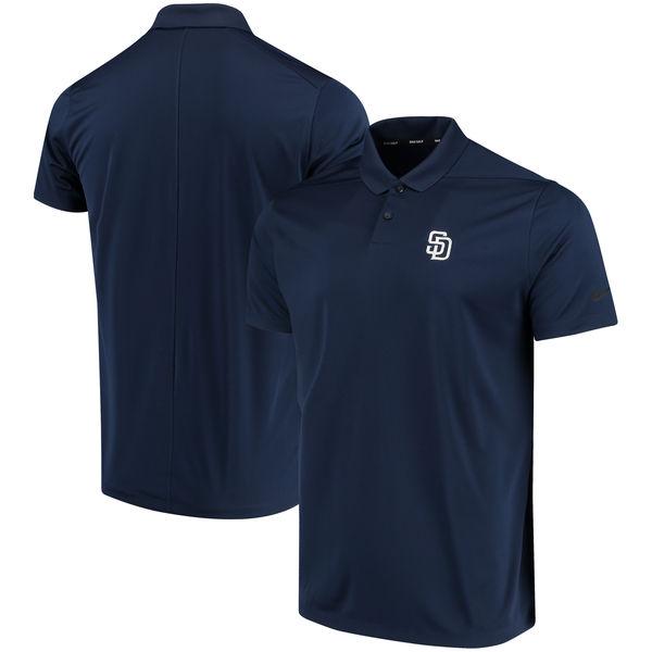 お取り寄せ MLB パドレス ソリッド ヴィクトリー パフォーマンス ポロシャツ ナイキ/Nike ネイビー