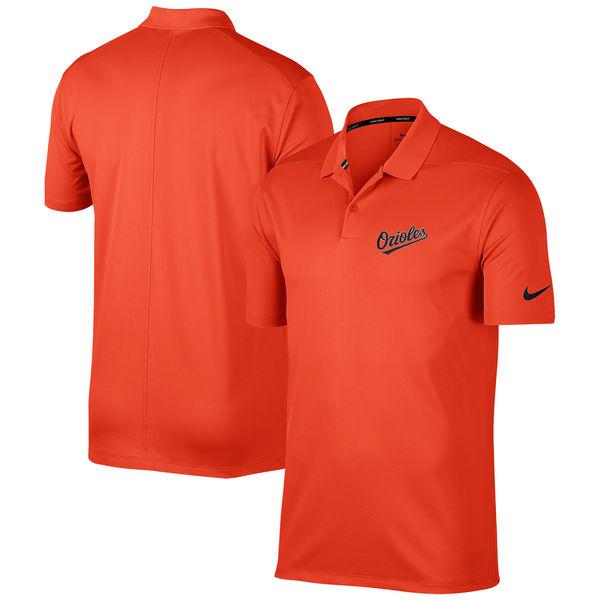 お取り寄せ MLB オリオールズ ソリッド ヴィクトリー パフォーマンス ポロシャツ ナイキ/Nike オレンジ