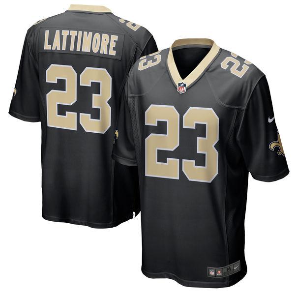 NFL セインツ マーション・ラティモア ゲーム ユニフォーム/ユニホーム レプリカ ナイキ/Nike ブラック