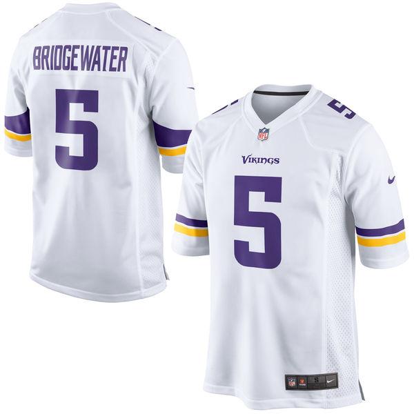 NFL バイキングス テディ・ブリッジウォーター ゲーム ユニフォーム/ユニホーム レプリカ ナイキ/Nike ホワイト
