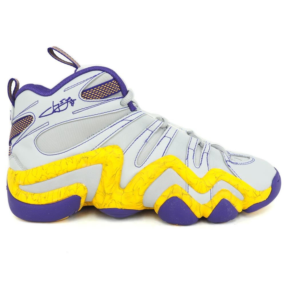 696dda753fb Adidas Lakers Jeremy phosphorus shoes   basketball shoes CRAZY 8 crazy gray