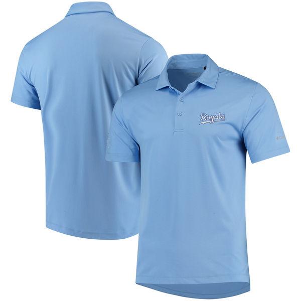 お取り寄せ MLB ロイヤルズ オムニウィック ドライブ ポロシャツ コロンビア/Columbia ライトブルー