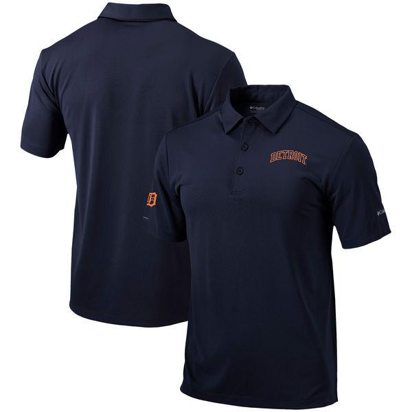 お取り寄せ MLB タイガース オムニウィック ドライブ ポロシャツ コロンビア/Columbia ネイビー