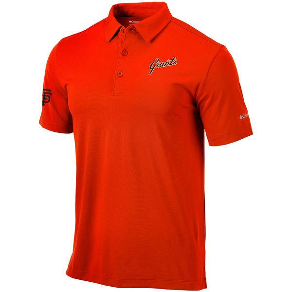 お取り寄せ MLB ジャイアンツ オムニウィック ドライブ ポロシャツ コロンビア/Columbia オレンジ