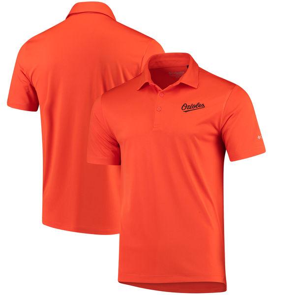 お取り寄せ MLB オリオールズ オムニウィック ドライブ ポロシャツ コロンビア/Columbia オレンジ