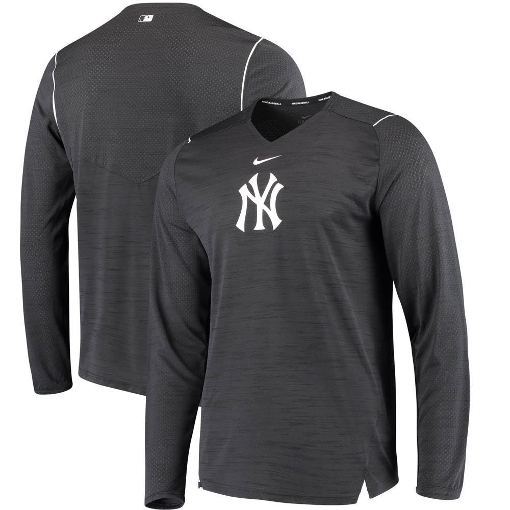 MLB ヤンキース AC ブリーズ パフォーマンス ロングTシャツ ナイキ/Nike ネイビー