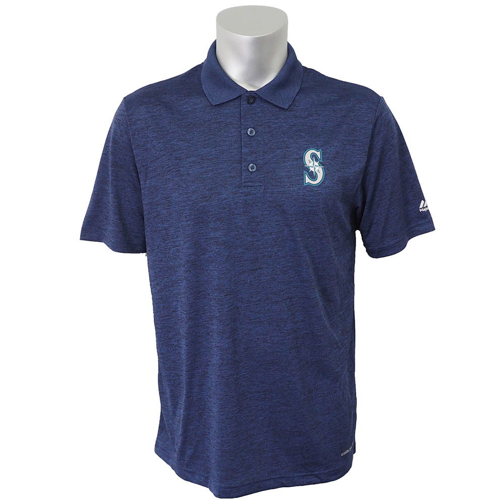 MLB マリナーズ ターゲッティング サクセス ポロシャツ マジェスティック/Majestic ネイビー