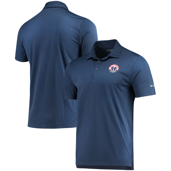 お取り寄せ NBA ウィザーズ オムニウィック ドライブ ポロシャツ コロンビア/Columbia ネイビー