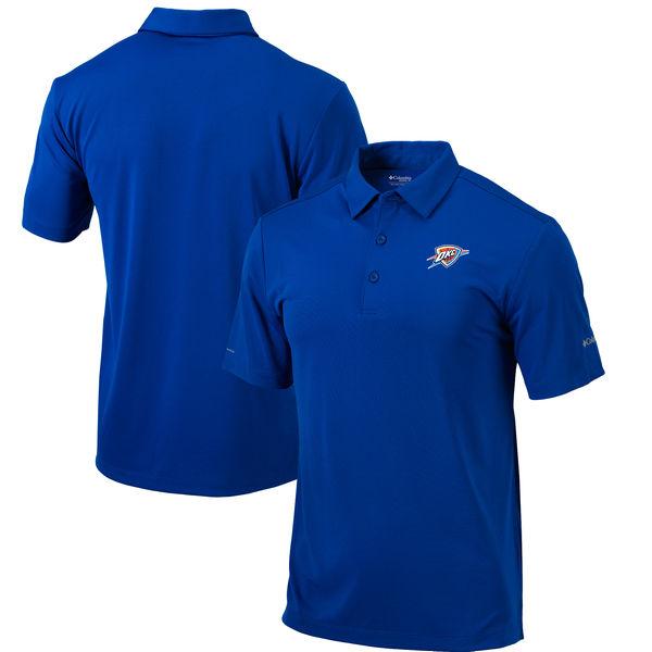 お取り寄せ NBA サンダー オムニウィック ドライブ ポロシャツ コロンビア/Columbia ブルー