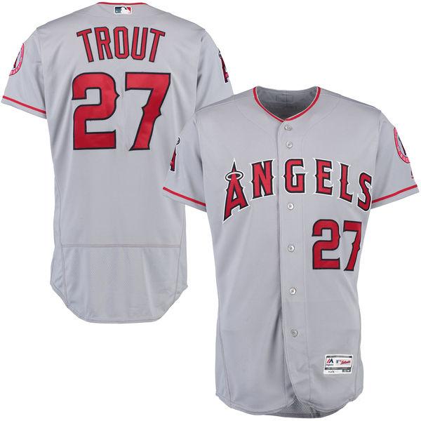 お取り寄せ MLB エンゼルス マイク・トラウト ユニフォーム/ユニホーム 選手着用モデル マジェスティック/Majestic ロード