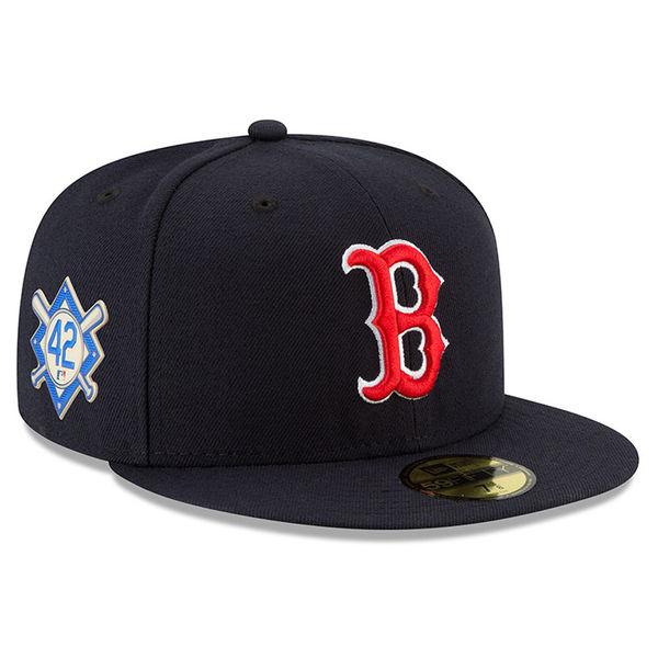 MLB レッドソックス 2018 ジャッキー・ロビンソン・デイ 59FIFTY フィッテッド キャップ/帽子 ニューエラ/New Era ネイビー