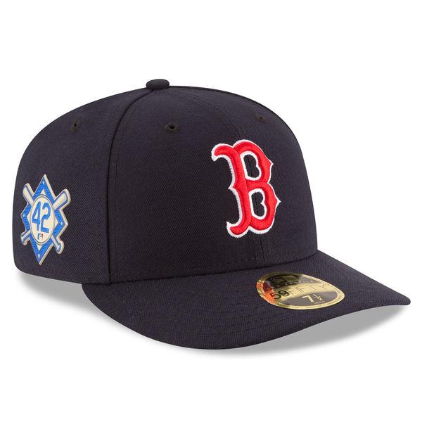 お取り寄せ MLB レッドソックス 2018 ジャッキー・ロビンソン・デイ ロープロファイル 59FIFTY フィッテッド キャップ/帽子 ニューエラ/New Era ネイビー