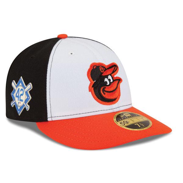 お取り寄せ MLB オリオールズ 2018 ジャッキー・ロビンソン・デイ ロープロファイル 59FIFTY フィッテッド キャップ/帽子 ニューエラ/New Era ブラック