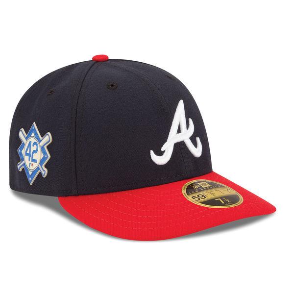 お取り寄せ MLB ブレーブス 2018 ジャッキー・ロビンソン・デイ ロープロファイル 59FIFTY フィッテッド キャップ/帽子 ニューエラ/New Era ネイビー