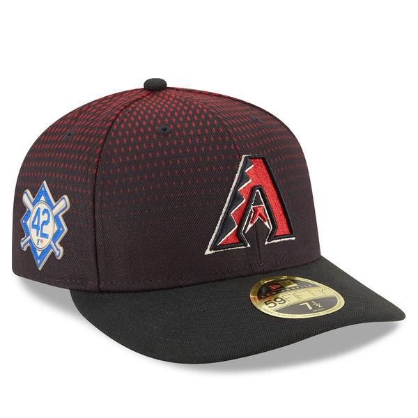 お取り寄せ MLB ダイヤモンドバックス 2018 ジャッキー・ロビンソン・デイ ロープロファイル 59FIFTY フィッテッド キャップ/帽子 ニューエラ/New Era ブラック