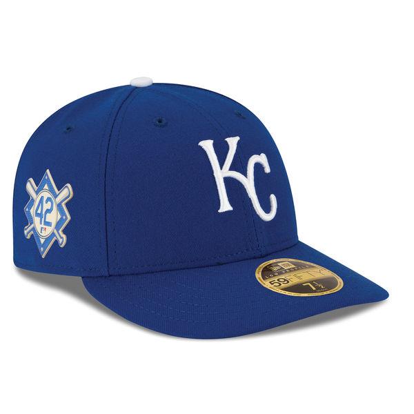 お取り寄せ MLB ロイヤルズ 2018 ジャッキー・ロビンソン・デイ ロープロファイル 59FIFTY フィッテッド キャップ/帽子 ニューエラ/New Era ロイヤル