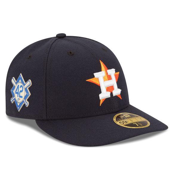 お取り寄せ MLB アストロズ 2018 ジャッキー・ロビンソン・デイ ロープロファイル 59FIFTY フィッテッド キャップ/帽子 ニューエラ/New Era ネイビー