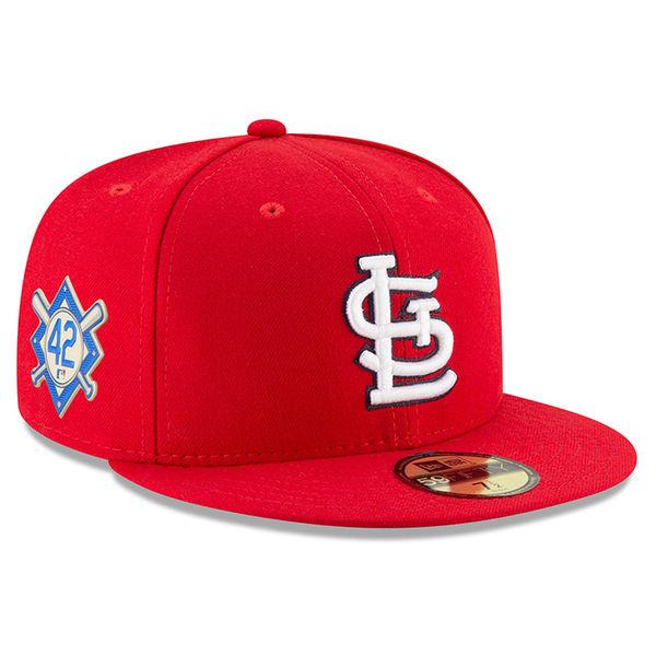 お取り寄せ MLB カージナルス 2018 ジャッキー・ロビンソン・デイ 59FIFTY フィッテッド キャップ/帽子 ニューエラ/New Era ネイビー