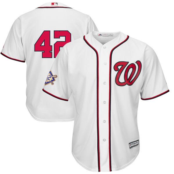 お取り寄せ MLB ナショナルズ ユニフォーム/ジャージ クールベース レプリカ 2018 ジャッキー・ロビンソン・デイ マジェスティック/Majestic ホワイト