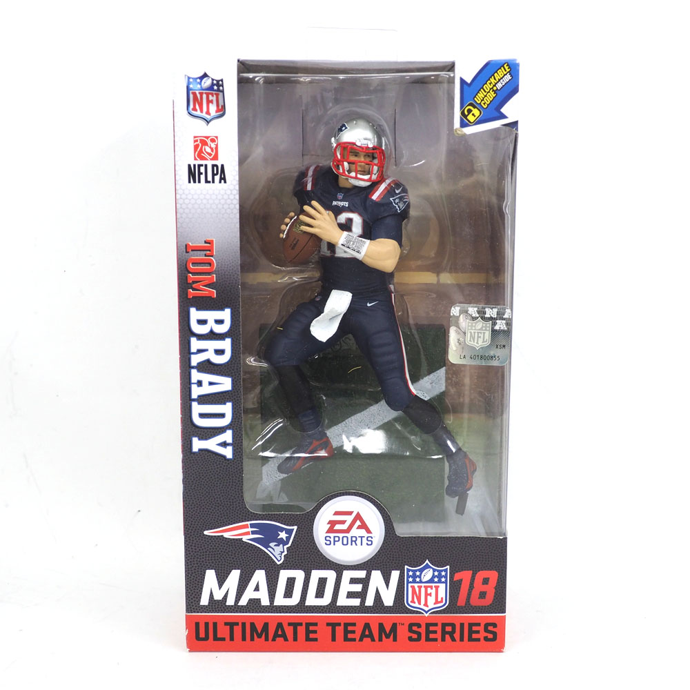 huge selection of e1aae d4829 NFL Patriots Tom Brede figure skating EA sports NFL 18 ultimate team series  McFarlane /McFarlane Color Rush rare item