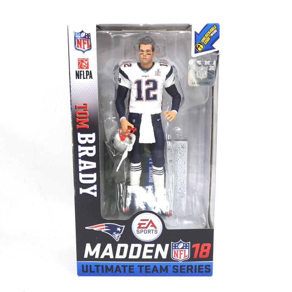 NFL ペイトリオッツ トム・ブレイディ フィギュア EA スポーツ NFL 18 アルティメット チーム シリーズ マクファーレン/McFarlane ロード レアアイテム