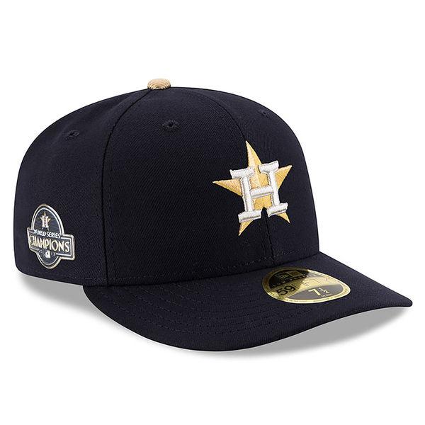 お取り寄せ MLB アストロズ 2018 ゴールドプログラム キャップ/帽子 フィッテッド ロープロファイル ニューエラ/New Era