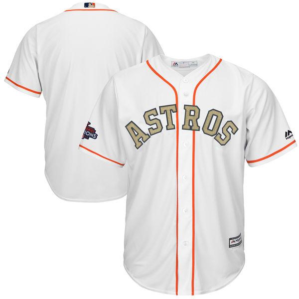 お取り寄せ MLB アストロズ 2018 ゴールドプログラム レプリカ ユニフォーム/ユニホーム マジェスティック/Majestic ホワイト