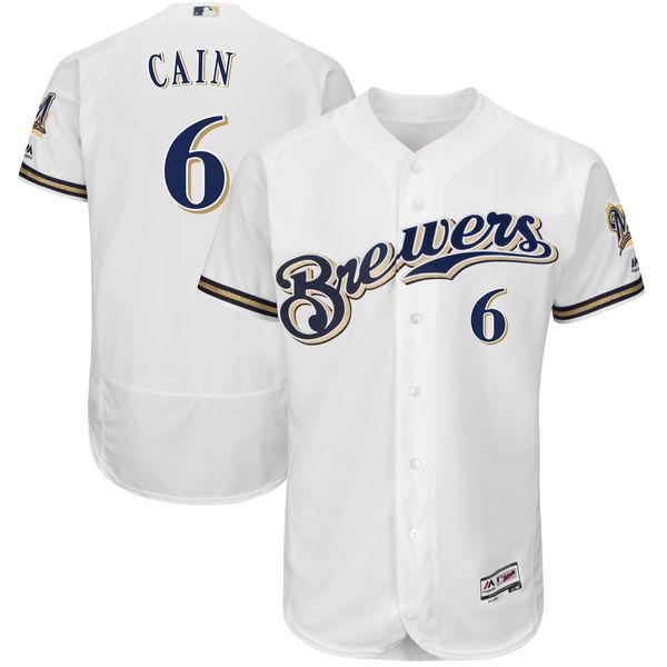 お取り寄せ MLB ブリュワーズ ロレンゾ・ケイン ユニフォーム/ユニホーム 選手着用モデル マジェスティック/Majestic ホーム