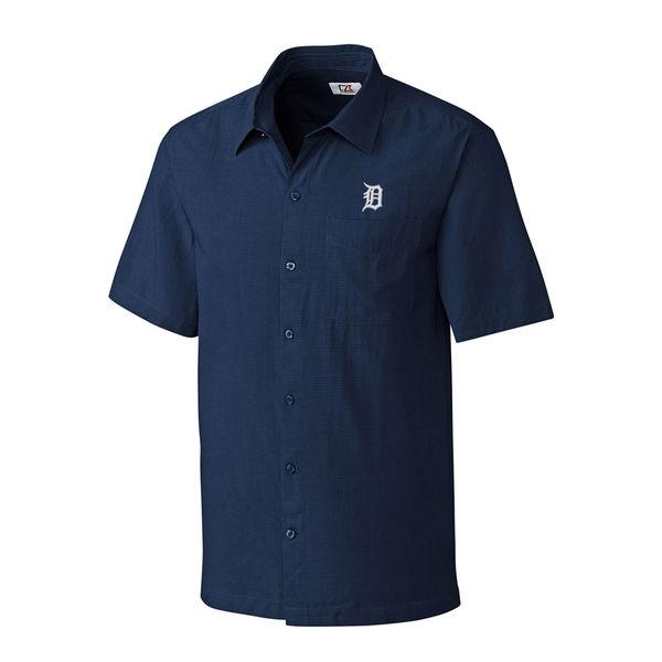 お取り寄せ MLB タイガース ボタンシャツ チェック メンズ カッター&バック/Cutter & Buck