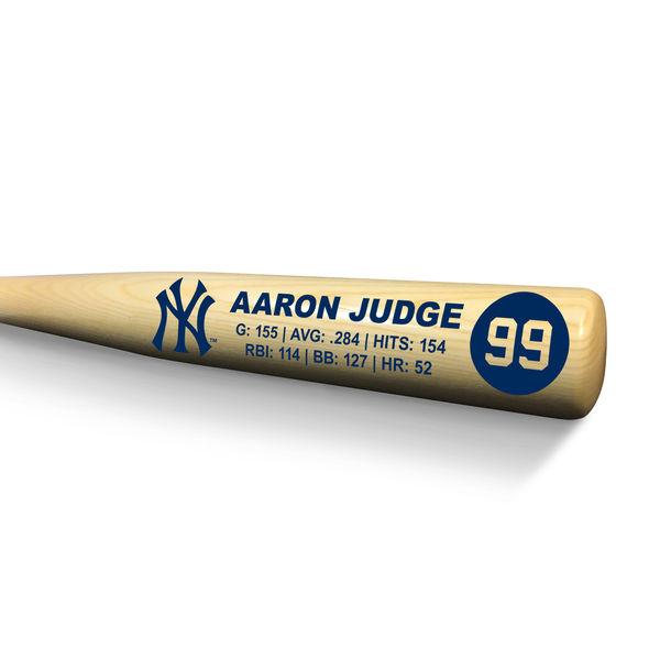 お取り寄せ MLB ヤンキース アーロン・ジャッジ 記念バット ルーキー スタッツ