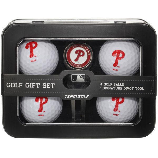 お取り寄せ MLB フィリーズ ゴルフボール&ディボットツール セット 父の日