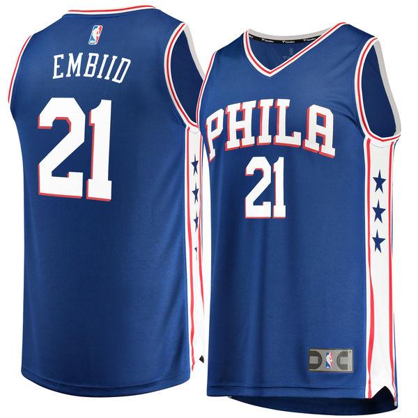 お取り寄せ NBA 76ers ジョエル・エンビード レプリカ ユニフォーム/ジャージ ファスト ブレイク ロイヤル