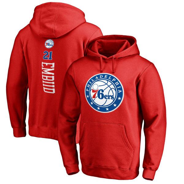 お取り寄せ NBA 76ers ジョエル・エンビード プルオーバー パーカー/フーディー ネーム & ナンバー ベッカー レッド