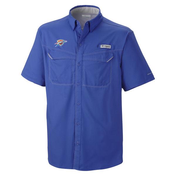 お取り寄せ NBA サンダー ボタン シャツ オムニシェード メンズ コロンビア/Columbia ブルー