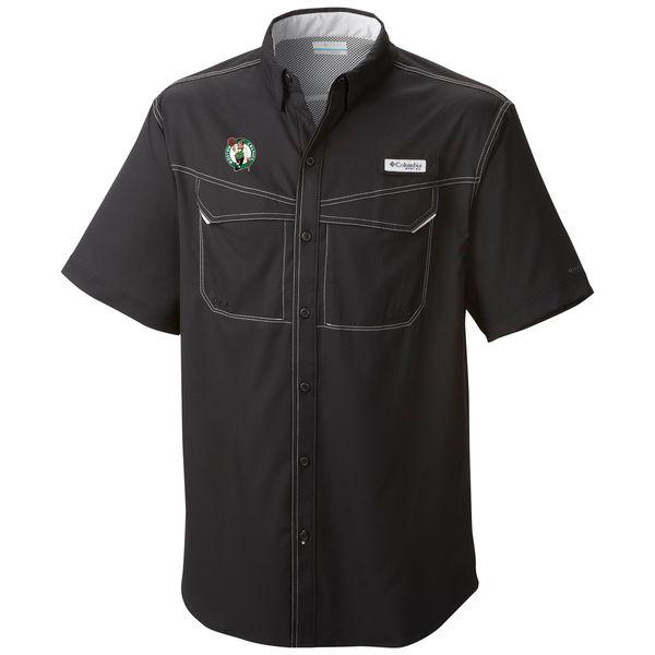 お取り寄せ NBA セルティックス ボタン シャツ オムニシェード メンズ コロンビア/Columbia ブラック