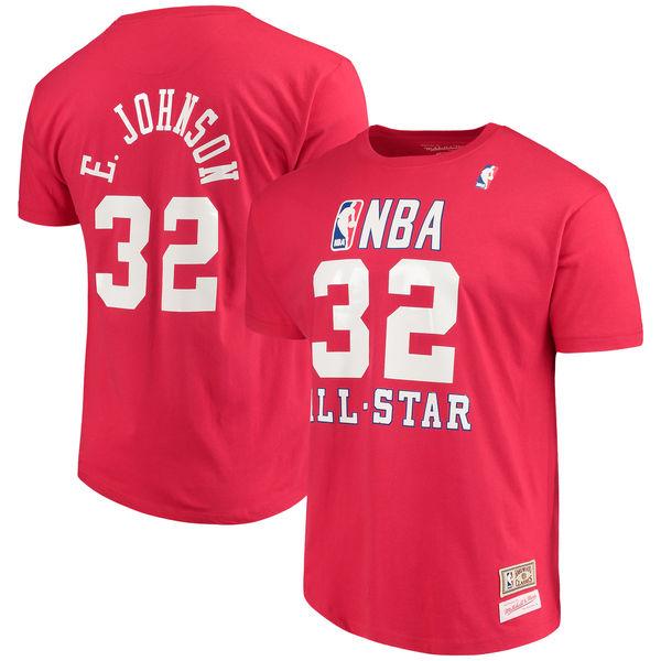 お取り寄せ NBA レイカーズ マジック・ジョンソン 1990 オールスター ネーム&ナンバー Tシャツ ミッチェル&ネス/Mitchell & Ness