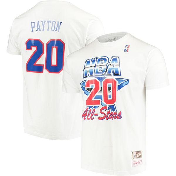 お取り寄せ NBA スーパーソニックス ゲイリー・ペイトン 1994 オールスター ネーム&ナンバー Tシャツ ミッチェル&ネス/Mitchell & Ness