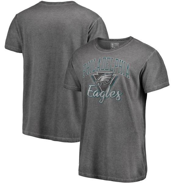 NFL イーグルス Tシャツ シャドー ウォッシュド レトロ メンズ ブラック