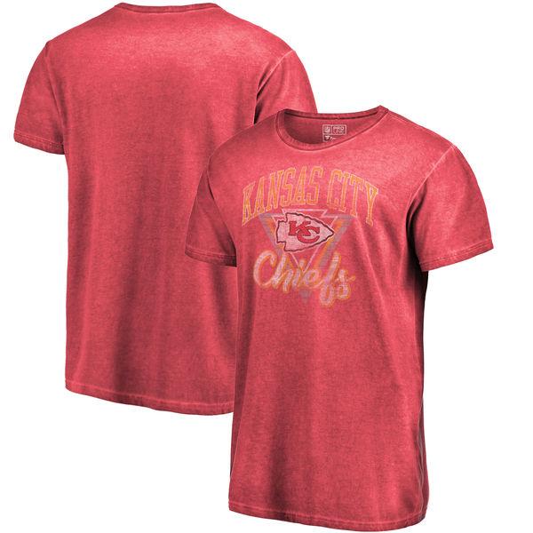 NFL チーフス Tシャツ シャドー ウォッシュド レトロ メンズ レッド