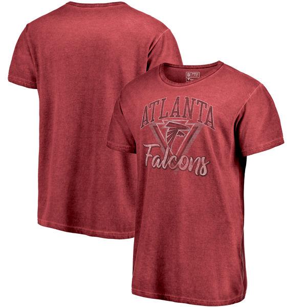 NFL ファルコンズ Tシャツ シャドー ウォッシュド レトロ メンズ レッド