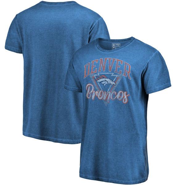 NFL ブロンコス Tシャツ シャドー ウォッシュド レトロ メンズ ネイビー