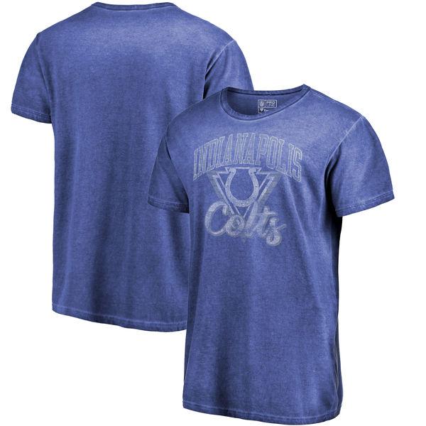 NFL コルツ Tシャツ シャドー ウォッシュド レトロ メンズ ロイヤル