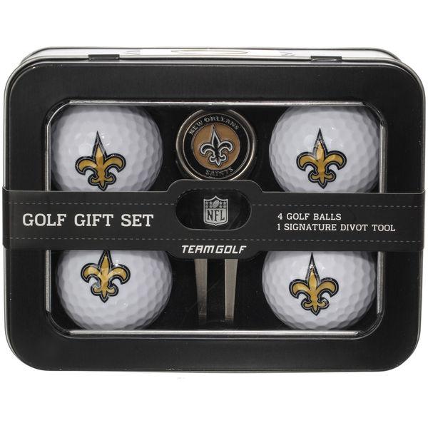 お取り寄せ NFL セインツ ゴルフボール&ディボットツール セット 父の日
