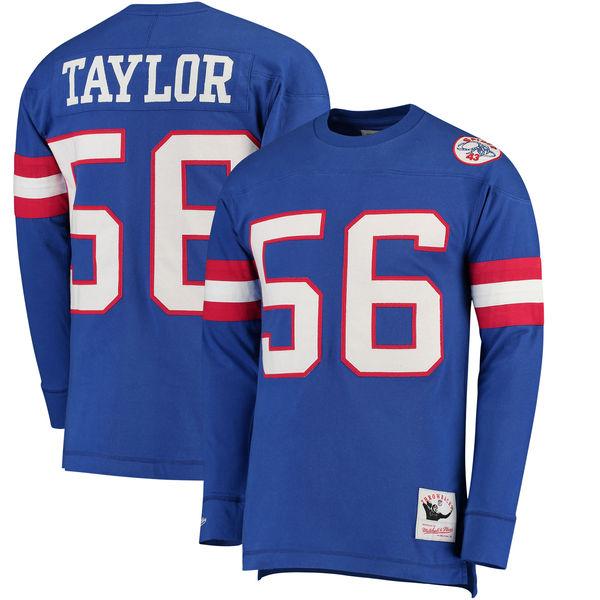 お取り寄せ NFL ジャイアンツ ローレンス・テイラー ロングTシャツ スローバック ネーム&ナンバー ミッチェル&ネス/Mitchell & Ness