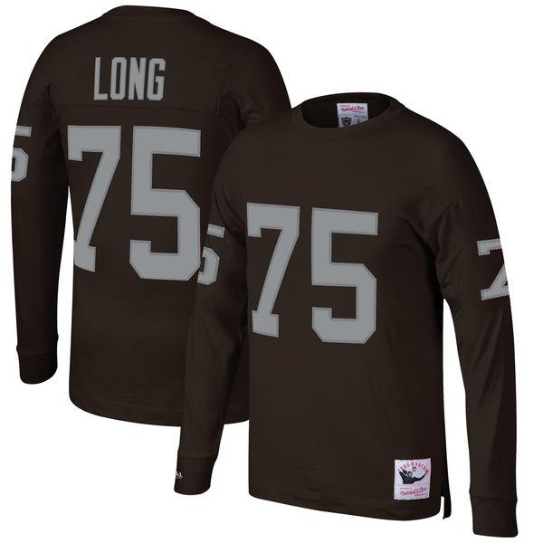 お取り寄せ NFL レイダース ハウィー・ロング ロングTシャツ スローバック ネーム&ナンバー ミッチェル&ネス/Mitchell & Ness