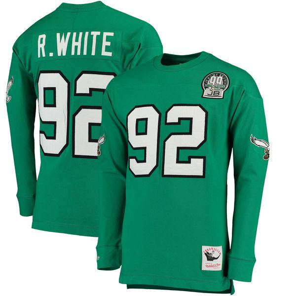 NFL イーグルス レジー・ホワイト ロングTシャツ スローバック ネーム&ナンバー ミッチェル&ネス/Mitchell & Ness