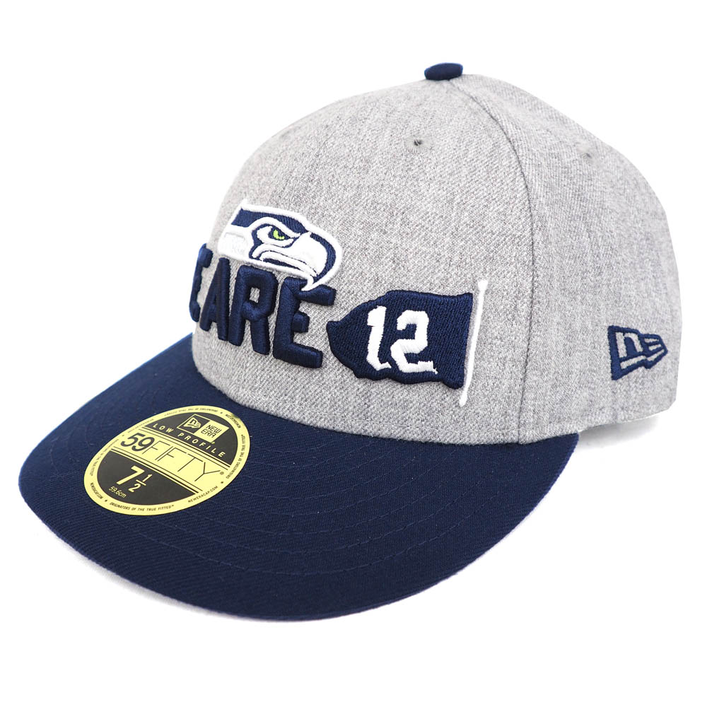 NFL Seahawks 59FIFTY cap   hat low profile 2018 draft onstage new gills  New  Era Heather is gray 7cb738b53