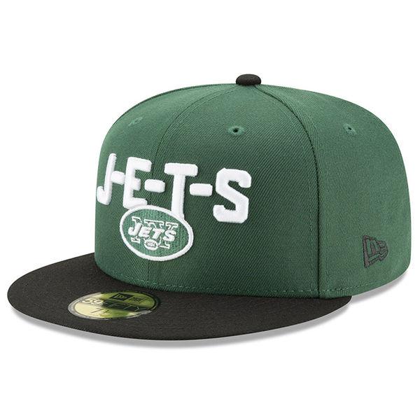 NFL ジェッツ 59FIFTY フィッテッド キャップ/帽子 2018 ドラフト スポットライト ニューエラ/New Era グリーン