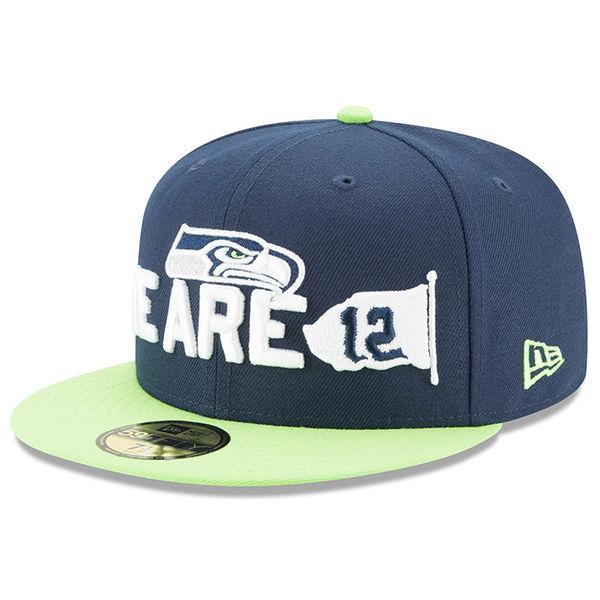 NFL シーホークス 59FIFTY フィッテッド キャップ/帽子 2018 ドラフト スポットライト ニューエラ/New Era ネイビー